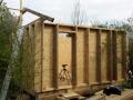 Začátek stavby krovu