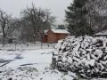 Západní svatyně a ježek dřeva na zimu