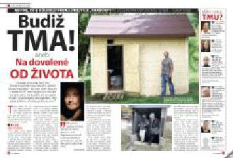 10.7.2014 vyšel 3 stránkový článek v časopise Květy o terapii tmou u nás.