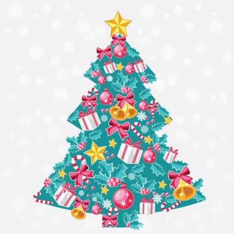Abstract Christmas Tree Vector Art